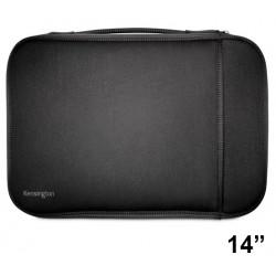 "Funda para portátil kensington universal sleeve de 14"", color negro."
