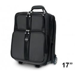"Trolley para portátil kensington contour™ overnight de 17"", color negro."