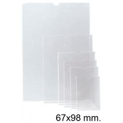 Funda con uñero en pvc de 140 micras esselte 65q 67x98 mm. cristal transparente, caja de 100 uds.
