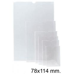 Funda con uñero en pvc de 140 micras esselte 75q 78x114 mm. cristal transparente, caja de 100 uds.