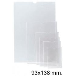 Funda con uñero en pvc de 140 micras esselte 90q 93x138 mm. cristal transparente, caja de 100 uds.