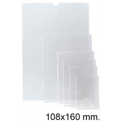 Funda con uñero en pvc de 140 micras esselte 105q 108x160 mm. cristal transparente, caja de 100 uds.