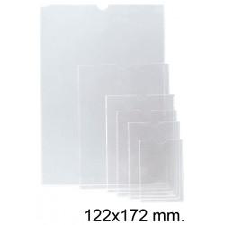 Funda con uñero en pvc de 140 micras esselte 120q 122x172 mm. cristal transparente, caja de 100 uds.