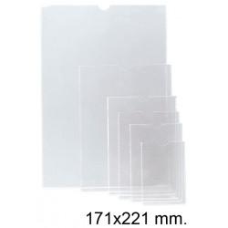 Funda con uñero en pvc de 140 micras esselte 170q 171x221 mm. cristal transparente, caja de 100 uds.