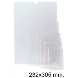 Funda con uñero en pvc de 140 micras esselte 185q 232x305 mm. cristal transparente, caja de 100 uds.