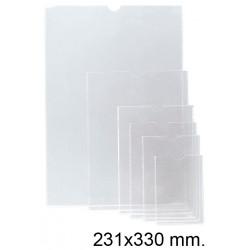 Funda con uñero en pvc de 140 micras esselte 190q 231x330 mm. cristal transparente, caja de 100 uds.