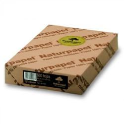Paquete de 100 hojas de papel reciclado naturpapel en din a-4 de 80 grs.