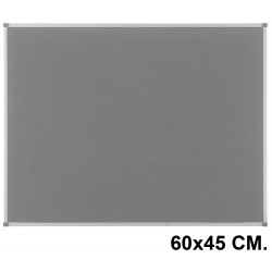 Tablero de fieltro con marco de aluminio nobo essence 60x45 cm. gris
