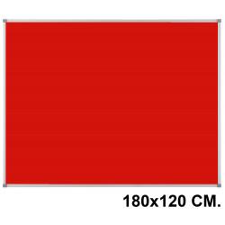 Tablero de fieltro con marco de aluminio nobo essence 180x120 cm. rojo
