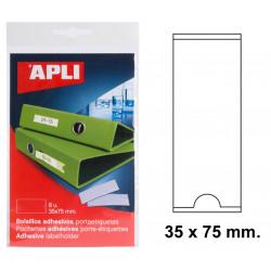 Bolsillo adhesivo portaetiqueta apli de 35x75 mm. blíster de 8 uds.