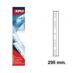 Tira adhesiva con multitaladro apli de 295 mm. blíster de 10 uds.