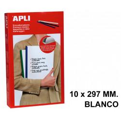 Encuadernador deslizante apli de 10x297 mm. blanco, caja de 50 uds.