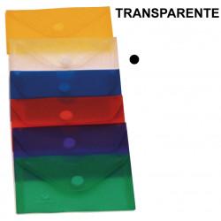 Sobre en polipropileno translúcido con cierre de velcro grafoplas ecoplás en formato tarjeta de visita color transparente.