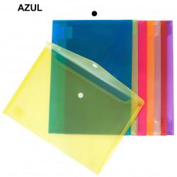 Sobre en polipropileno cristal con cierre de velcro grafoplas multiline en formato din a-5 color transparente.