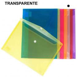 Sobre en polipropileno translúcido con cierre de velcro grafoplas ecoplás en formatofolio color transparente.