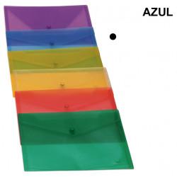 Sobre en polipropileno translúcido con cierre de broche grafoplas ecoplás en formato 1/4 color transparente.