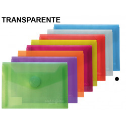 Sobre en polipropileno cristal con cierre de velcro grafoplas multiline en formato din a-6 color transparente.