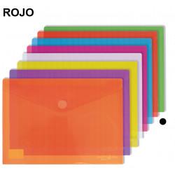Sobre en polipropileno cristal con cierre de velcro grafoplas multiline en formato folio+ color transparente.