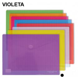 Sobre en polipropileno cristal con cierre de velcro grafoplas multiline en formato din a-3 color transparente.