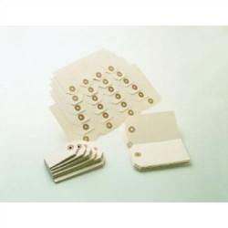 Etiquetas de cartulina con arandela en grupos de 4 uds. uni-system de 48x85 mm. c-1000 uds.