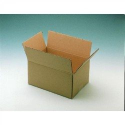 Caja de embalaje en kraft blanco canal sencillo de 330x230x280 mm.