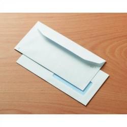 Sobre para publicidad con solapa trapezoidal offset blanco ventana derecha de 45x100 mm. en 120x235 mm. especial para inspección