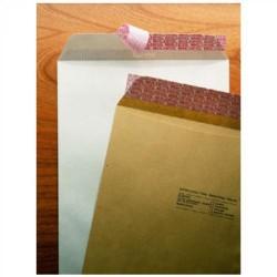 Bolsa para publicidad con cierre multicol kraft natural verjurado de 260x360 mm. especial para inspección postal.