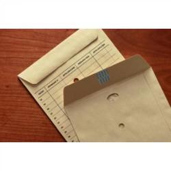 Bolsa para correo interno kraft natural verjurado con impresión exterior de 250x353 mm.