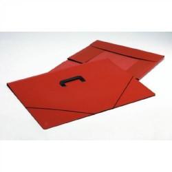 Carpeta de gomas de dibujo carchivo en cartón marrón alto brillo con asa lateral carchidea en formato artes.