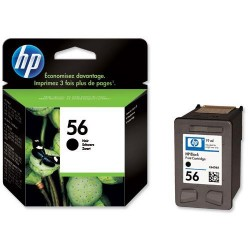 Cartucho ink-jet hewlett packard officejet 6110 nº 56 negro.