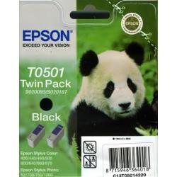 Pack de 2 cartuchos ink-jet epson stylus color 400/440/460 negro.