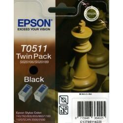 Pack de 2 cartuchos ink-jet epson stylus color 740/760/1520 negro.