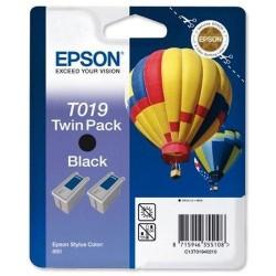 Pack de 2 cartuchos ink-jet epson stylus color 800/880t negro.