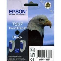Pack de 2 cartuchos ink-jet epson stylus photo 790/870/1270/1290 negro.