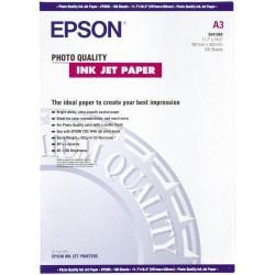 Paquete de 100 hojas de epson photo quality ink-jet paper en din a-3 de 102 grs.