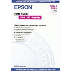 Paquete de 100 hojas de epson photo quality ink-jet paper en din a-3+ de 102 grs.