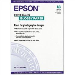 Paquete de 20 hojas de epson photo glossy paper en din a-3 de 141 grs.