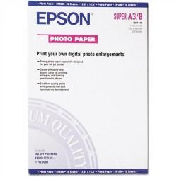 Paquete de 20 hojas de epson photo glossy paper en din a-3+ de 141 grs.