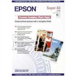 Paquete de 20 hojas de epson premium semigloss photo paper en din a-3+ de 250 grs.