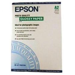 Paquete de 20 hojas de epson photo glossy paper en din a-2 de 141 grs.