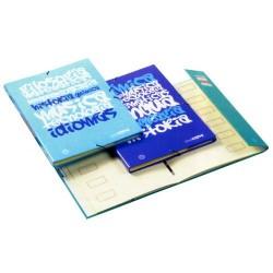Carpeta clasificador de cartón forrada en papel impreso con 12 departamentos uniclase en folio de colores surtidos.