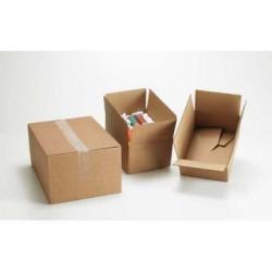 Caja de embalaje en kraft con fondo automático de 427x304x250 mm.