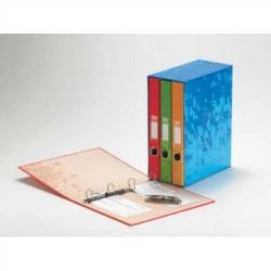 Box de archivo doméstico de tres cuerpos uni system novografic colores surtidos en din a-4.
