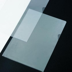 Dossier con uñero iberplas en p.v.c. cristal de 150 micras en folio.