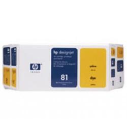 Cartucho ink-jet hewlett packard designjet 5000/5500 nº 81 amarillo.