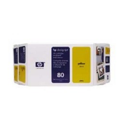 Cartucho ink-jet hewlett packard designjet 1050c/1055cm nº 80 amarillo.