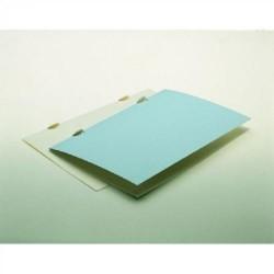 Dossier de presentación en cartulina eurokote sin bolsillos en din a-4 de color blanco.