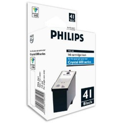 Cartucho ink-jet philips serie crystal 650/660 negro.