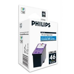 Cartucho ink-jet philips serie crystal 650/660 color.