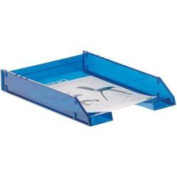 Bandeja portadocumentos archivo 2000 en color azul transparente.